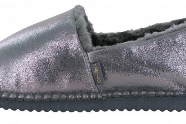 Flippadrilla Shiny Silver Flip Flop