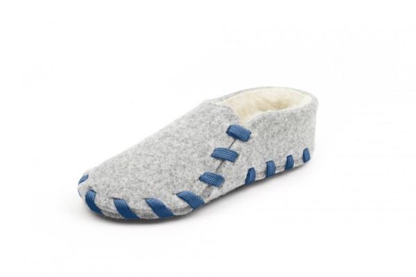 Wool lining marine blue
