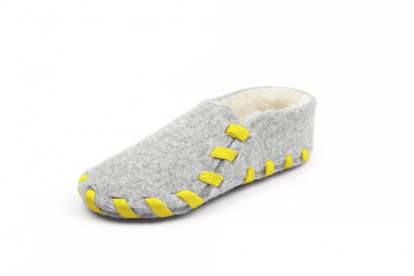 Wool lining yellow