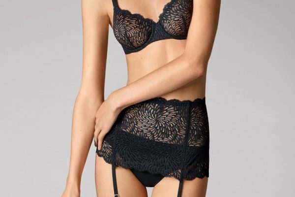 Wolford 59988 Tulle Lace Stocking Belt