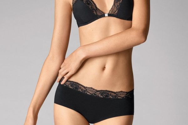 Wolford 69718 Cotton Contour Lace Panty