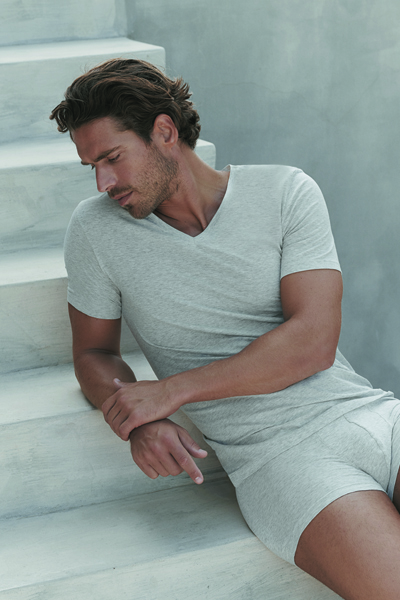 Cotton Superior SSlv Shirt VNeck