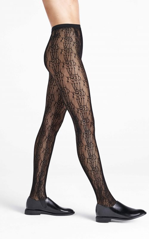 Wolford Logo Net Tights