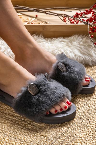 Pool Fur Mouse Metallic_dark grey