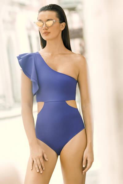 Trikini One Piece Blue