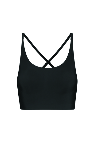 bra top crossback black_Front