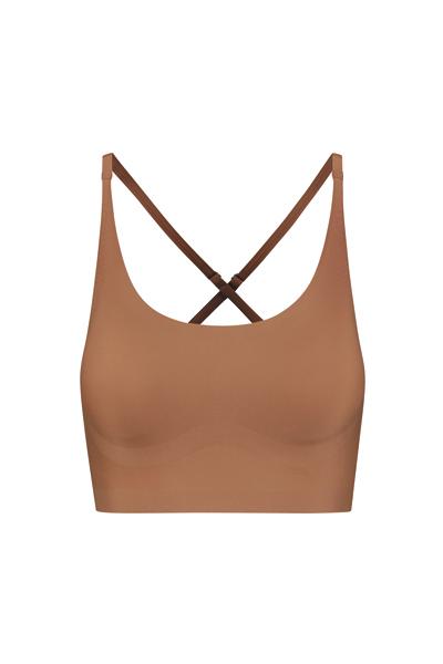 bra top crossback light brown_Front